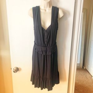 Marc by Marc Jacobs Navy Ruffled Dress